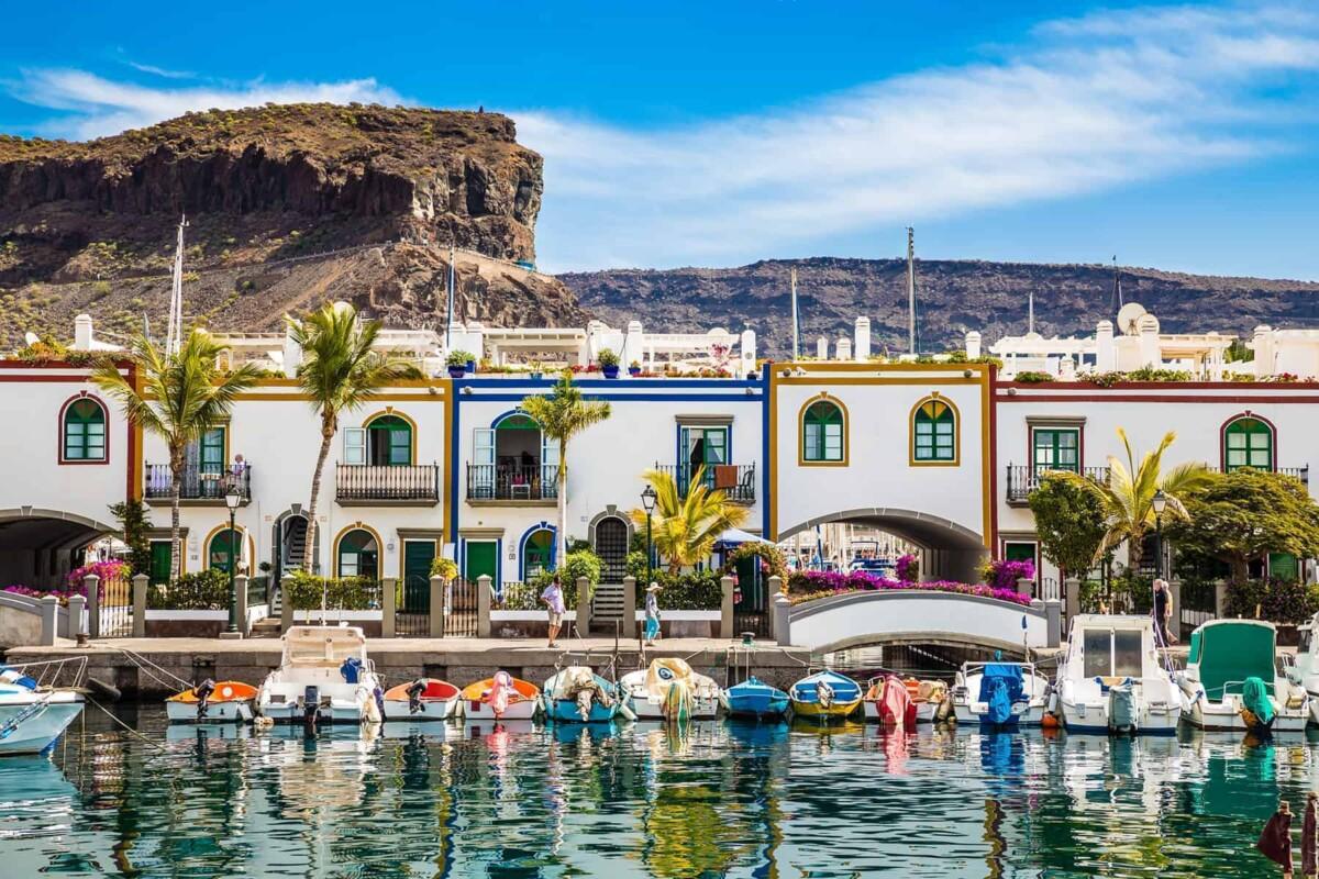 Waterfront properties in Puerto de Mogan, Gran Canaria, Spain