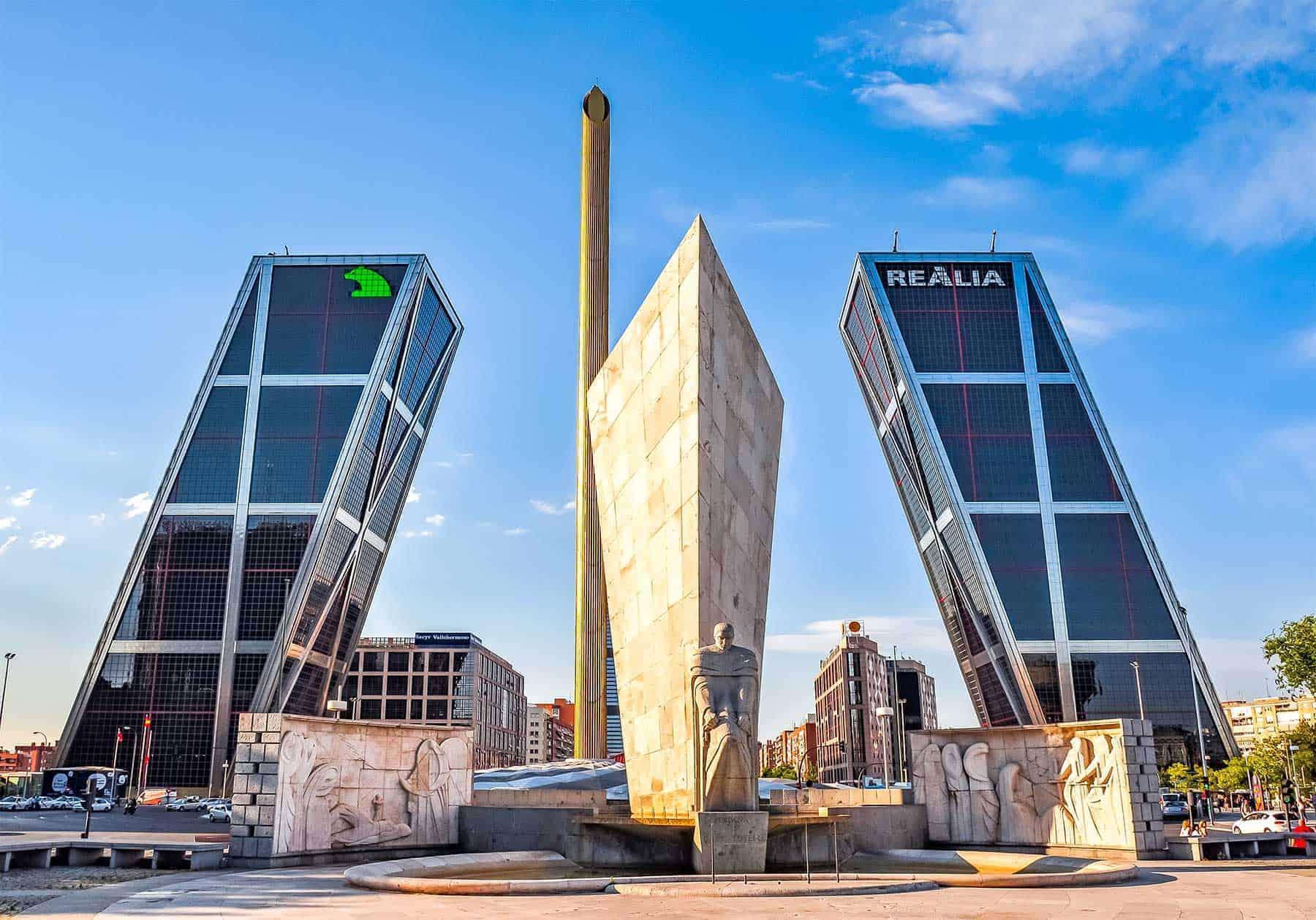 Gate of Europe - Madrid - Spain