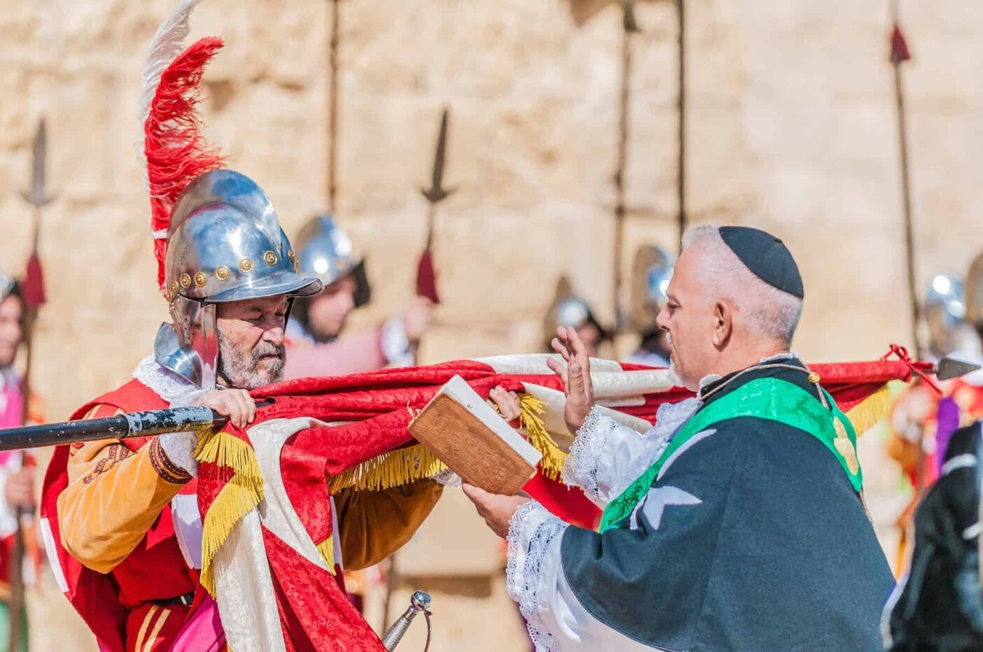 In Guardia re-enacting the inspection of the fort and its garrison by the Grand Bailiff of the Order of the Knights of St. John in Malta