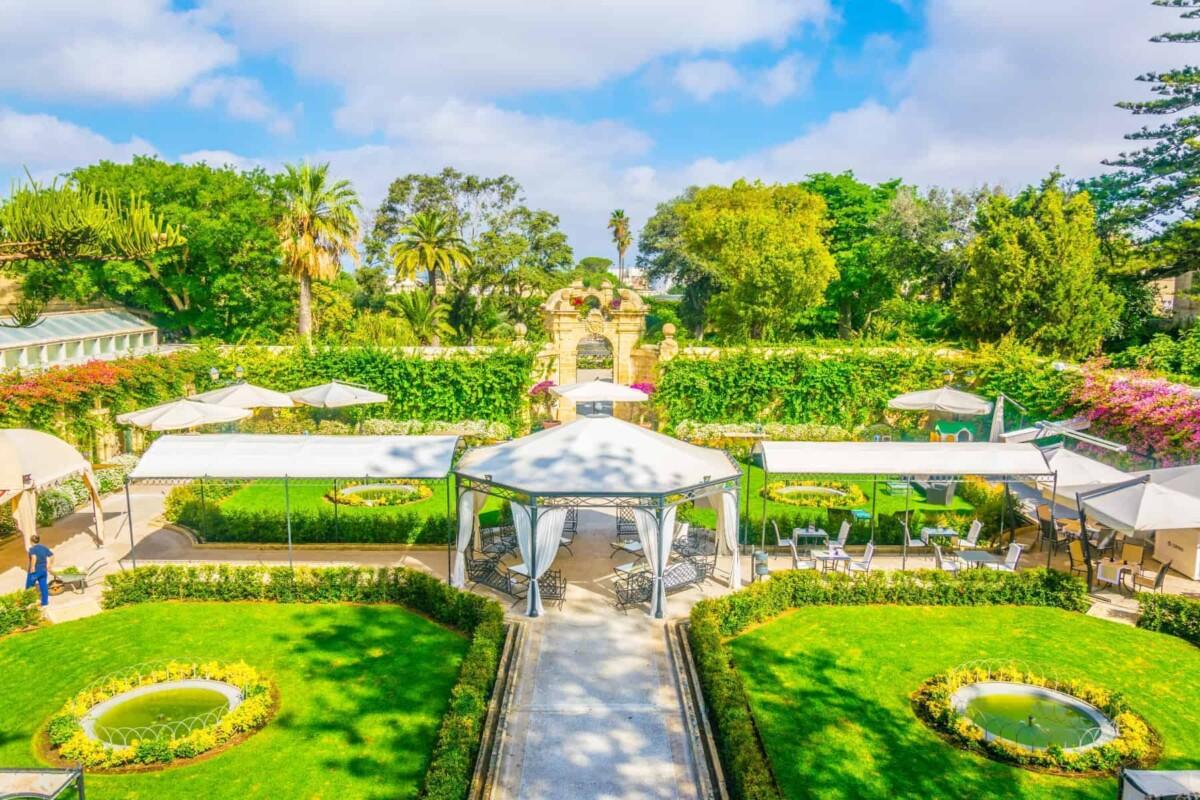 Living in Malta - Beautiful landscaped gardens on a sunny summer day, Malta.